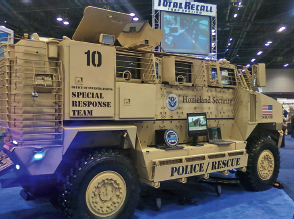 Among the top-of-the-line law enforcement fleet and tactical vehicles on display at the IACP was this one, in use by the premiere investigative arm of the Department of Homeland Security