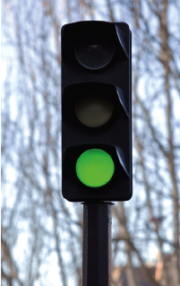 LED stop light fixture