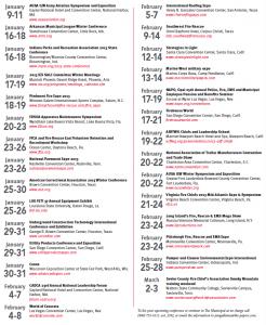 January 2013 Conferece Calendar