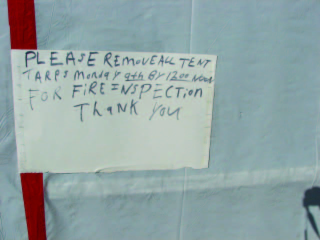 Camps at the Occupy Madison site were inspected on a regular basis in order to meet all fire and safety codes.