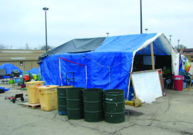 Protesters at Madison's Occupy camps worked closely with the city of Madison, Wis., to set up structures such as these.