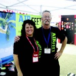 The team from Air Fleet Insoles made attendees more comfortable on the show floor.