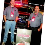 From left, John Wise and Kevin Williams of Wynn Apparatus show off their latest upfitted vehicles.