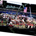 The main exhibit floor of FDIC 2012, at Lucas Oil Stadium in downtown Indianapolis.