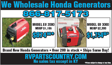 We Wholesale Honda Generators - rvpartscountry.com