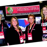 The Municipal team takes to the exhibit floor at FDIC 2012. Pictured, from left, are Account Executives Steve Gutowski and Christi Sausaman, Publication Manager Kim Gross and Editor Jodi Magallanes.