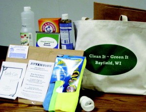 A Clean It/Green It bag from Bayfield, Wis., and its contents