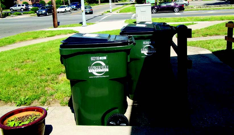 Many communities have gone to larger curbside recycling bins so more trash gets recycled and less hits the trash can