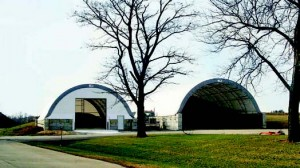 ClearSpan fabric buildings cost less and can be constructed more quickly than wood-framed structures