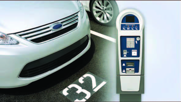 Ways a customer can pay for parking are by using cash, credit and debit cards for payment
