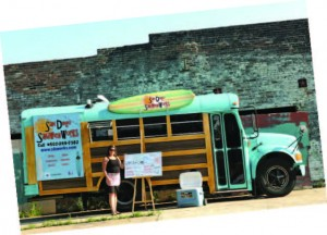 Kaaren Weyland operates the San Diego Sandwich Works food truck in Louisville, Ky.