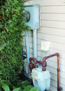 Replacing old equipment, like water meters, with new, more precise and labor-saving units