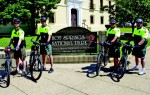Rangers D. VanNest, A. Griggs, Z. Summerlin and Ranger F. Stock are among the officers who patrol Hot Springs National Park on bicycle