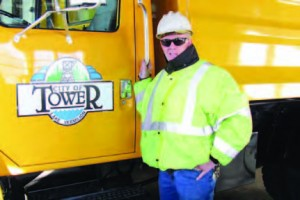 Randall Johnson, head of public works for Tower, Minn.