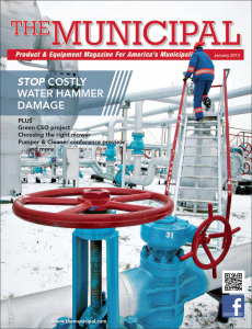 January 2013 Municipal Magazine Cover