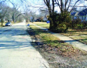 """Before"" photo of 76th Street, a residential street in Kansas City, Mo."