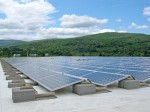 Rooftop systems, such as those used by the Green Mountain Coffee Roasters, also provide a viable option for municipalities, using space that would otherwise go untapped. (Provided by groSolar)