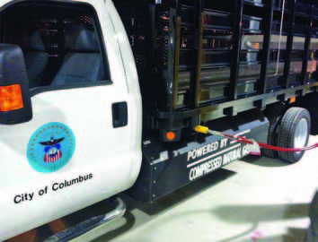 CNG has become a choice for fleet managers looking to cut back on greenhouse gas emissions.