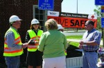 VDOT staff give out maps, water and cookies at the New Kent Rest Area for work zone safety week.