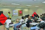 VDOT's Forester Wright at a local high school speaking about work zone safety.