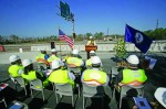Work zone awareness press conference taking place on the I-95/I-295 construction project.