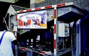 Kois' brine maker was among hundreds of pieces of winter weather equipment and vehicles on display at APWA's North American Snow Conference in Charlotte, N.C., in April.
