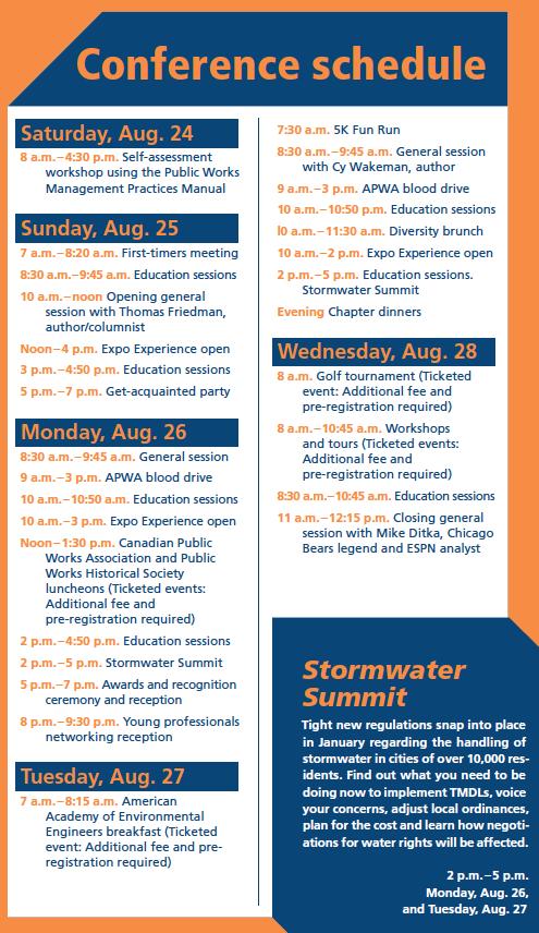 apwa conference schedule