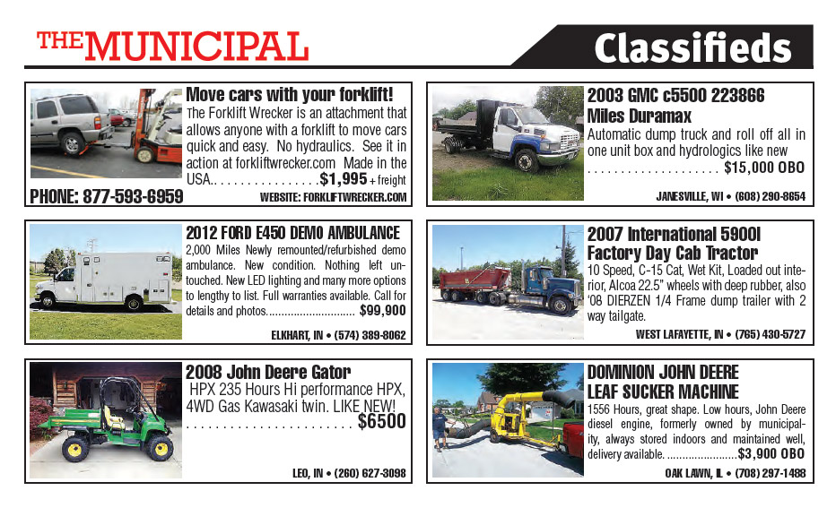 Municipal South Edition August 2013 Classifieds