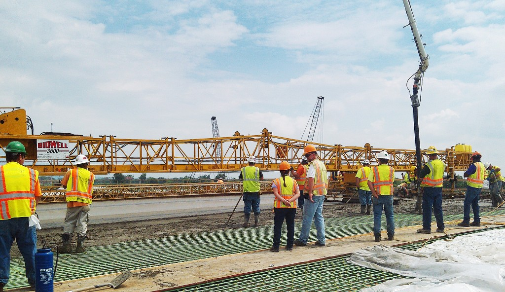Under construction since 2010, the New Mississippi River Bridge Project should be open for public use by February. At that time, there will still be some minor decorative features to add, and those should be finished in the spring. (Photo provided)