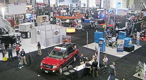 Financial planning for firefighters was among the sessions offered to emergency response professionals at the 2013 Fire- Rescue Conference in Chicago. A selection of state-of-the art heavy fire, rescue and EMS trucks filled one of McCormick Place's convention centers. (Photo by Christi Sausaman)