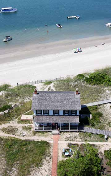 The Keepers' Quarters Museum, located at Cape Lookout National Seashore, North Carolina, can be seen from the top of the lighthouse. (Photo provided)