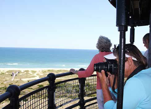 The job description of lighthouse keeper includes making sure visitors are ready to climb; working with them if they are afraid of heights or close spaces; and helping them get them back down safely, said Karen Duggan, park ranger of Cape Lookout National Seashore Lighthouse in North Carolina. (Photo provided)