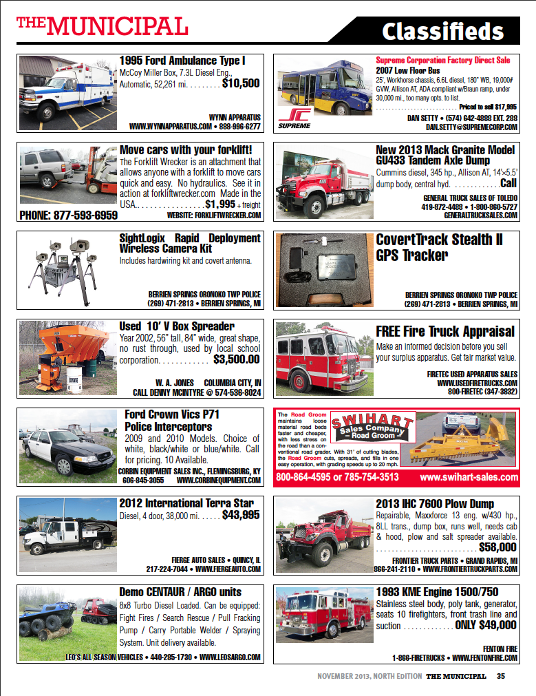 north municipal classifieds 11-13