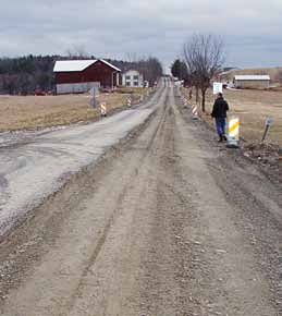 """Pie-crust"" roads can be pounded back into gravel. With some supplemental aggregate this road could be, and was, actually graded. (Photo provided)"