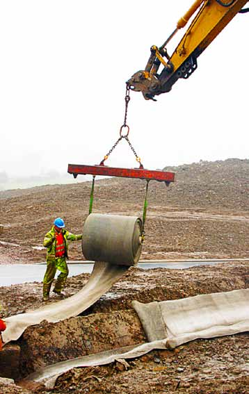 New cloth and canvas products are changing the approach to difficult concrete-laying locations. (Photo provided)