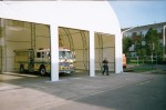 50' wide x 40' long, Temporary fire station and apparatus storage