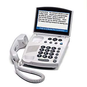 A CapTel, or captioned telephone, which utilizes the latest telephone technology and allows people to receive word-for-word captions of their phone conversations. Spoken words appear as written text, much like TV closed-captioning. (Photo provided)