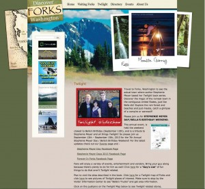 "Although the popularity of the ""Twilight"" series caught Forks, Wash., by surprise, the city is now a model for how to turn literary fame into tourism revenue. Forks' website directly facilitates readers' interest."
