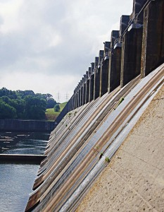 The hydropower created by the Kerr dam supplies not only part of Virginia but also the Carolinas, and speaks to the success of this renewable and clean method of power production. (Photo provided by USACE)