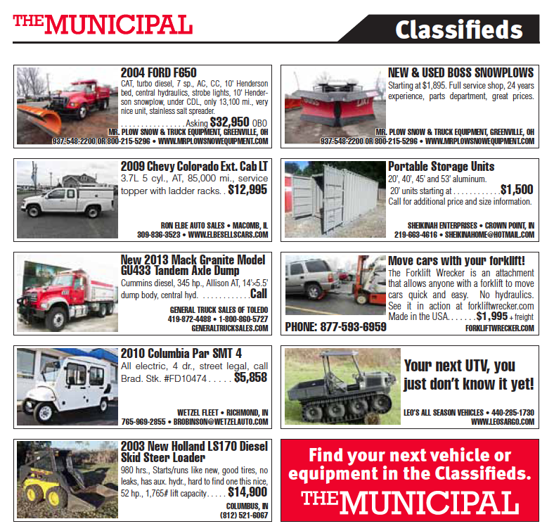 january municipal classifieds