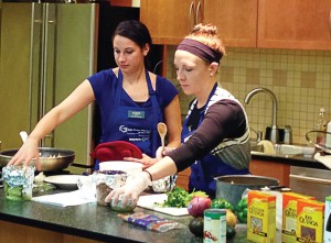 BZP cooks demonstrate plant-based cooking classes. Nutrition is a cornerstone of longevity, and Sioux City is intent on seeing more of its residents become centenarians. (Photo provided)