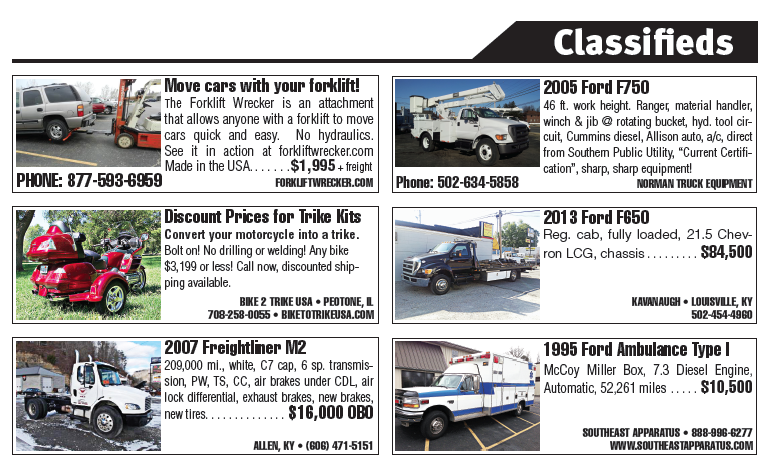 March 2014 Municipal South Classifieds