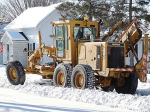 Whether you follow a written checklist or just the one in your head, most street departments find that the end of winter is the time to do routine maintenance like removing grinders, spreaders and blades; cleaning and greasing them; and maybe touching up the paint. (Photo provided)