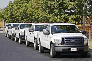With a fleet of 57 compressed natural gas pickup trucks, alternative fuel certification has been important for technicians employed by the city of Dublin, Ohio. The city currently has five technicians who are alternative-fuel certified. (Photo provided)