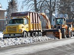 Now that this season is nearly over, Merrill, Wis., street department drivers will inspect snow removal equipment and make repairs. The first step is to thoroughly remove salt from the body of all units used on roadways during wintertime. (Photo provided)