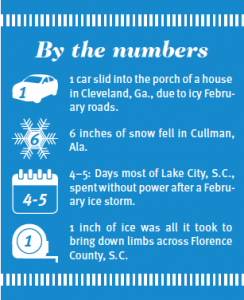snowfall in the south by the numbers
