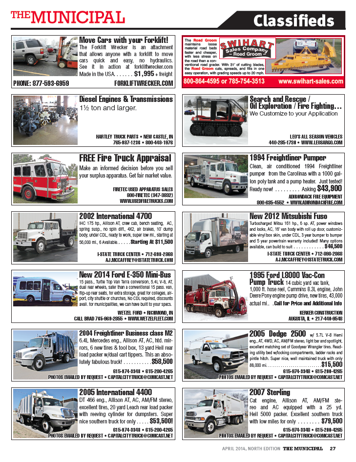 municipal classifieds.