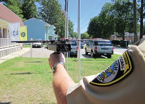 Law enforcement and first responders who use the Project Lifesaver International program utilize a radio-frequency tracking receiver to tune into the individualized frequency on transmitters clients wear on their wrists or ankles. (Photo provided)