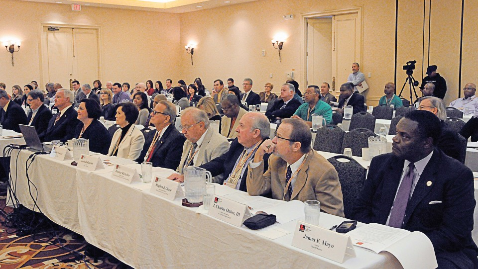 Several mayors, clerks of court, assessors, finance officials and others turned out to the 2013 LAMP Annual Meeting. LAMP has 636 local Louisiana governmental units participating in its pool, with 96 of those participants being cities, towns and villages. (Photo provided)