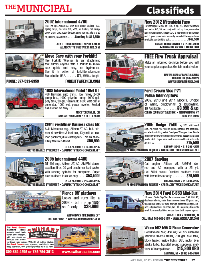 Classifieds From the North Edition